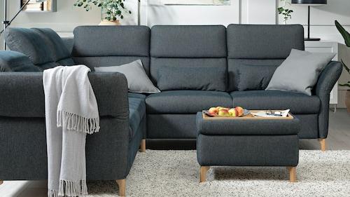 Ecksofas, Textil
