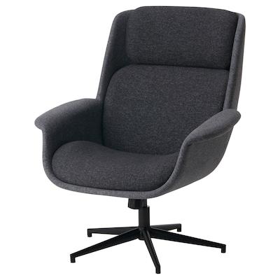 ÄLEBY Drejelænestol, Gunnared mellemgrå/mørkegrå