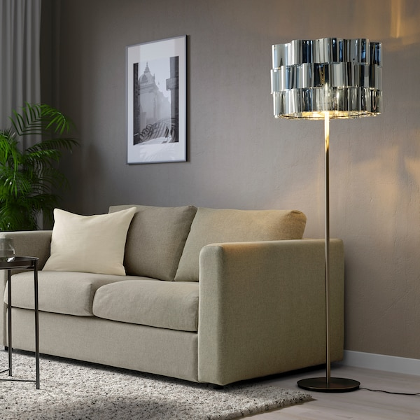 ÄLVSTARR Lampeskærm, kromeffekt, 51 cm
