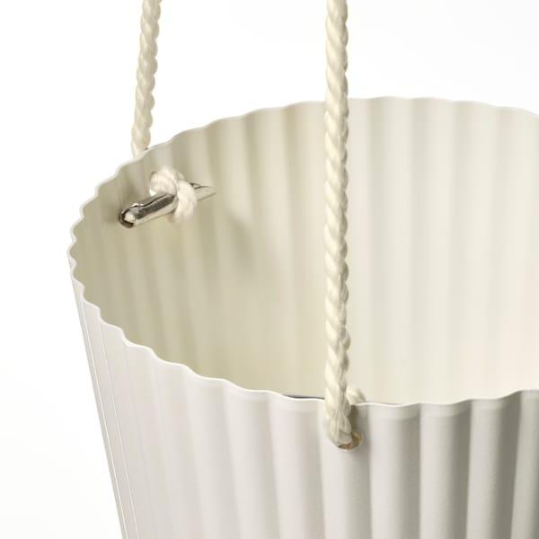 ÄPPELROS Ampel, indendørs/udendørs råhvid, 12 cm