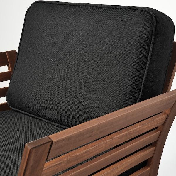 ÄPPLARÖ Lænestol, ude, brun bejdse/Järpön/Duvholmen antracit