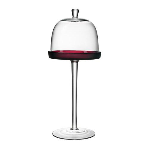 AKTAD Serveringsfad med låg , rød Diameter: 17 cm Højde: 40 cm