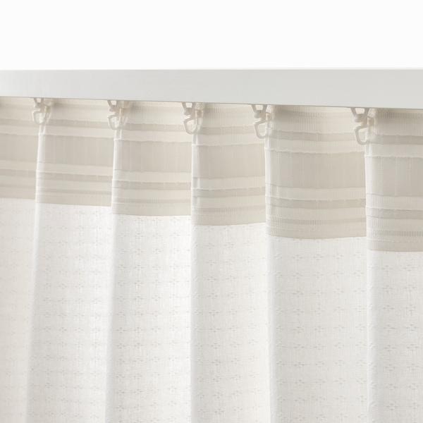 AMILDE Gardiner med gardinbånd, 2 stk., hvid, 145x250 cm