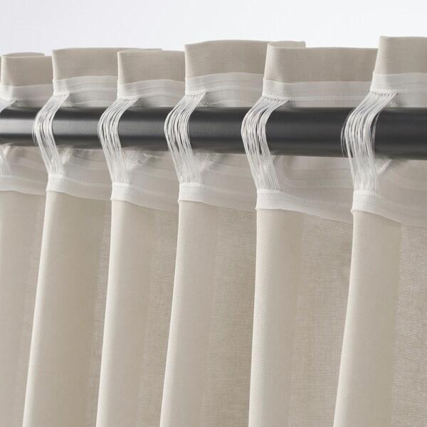 ANNALOUISA gardiner, 2 stk. beige 300 cm 145 cm 1.85 kg 4.63 m² 2 stk