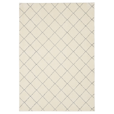 ARNAGER Tæppe, hvid/beige, 140x200 cm