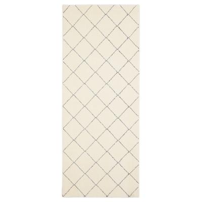 ARNAGER Tæppe, hvid/beige, 80x200 cm