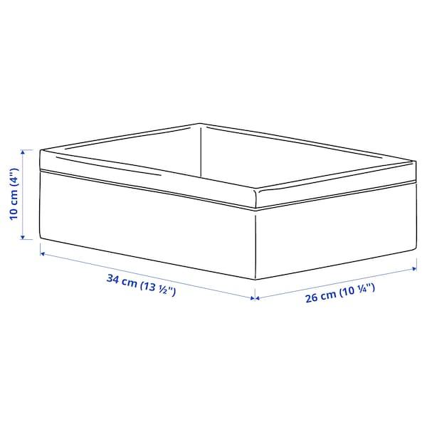 BAXNA Opbevaring, grå/hvid, 26x34x10 cm