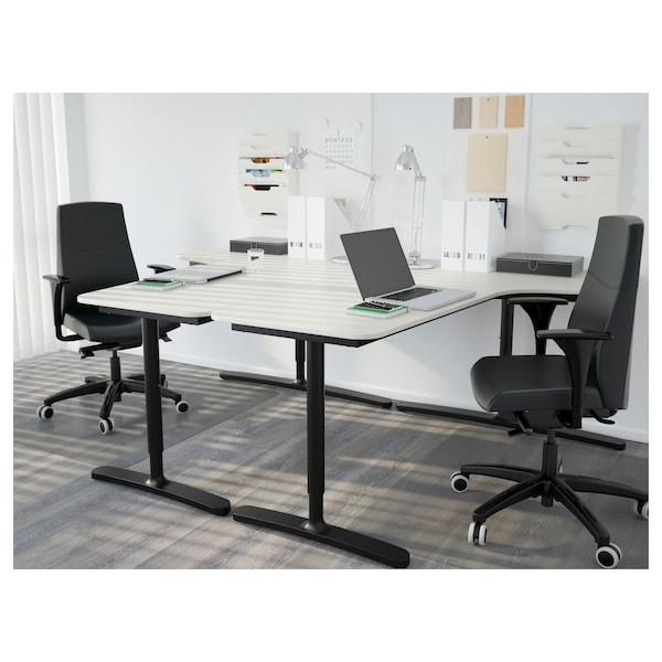 BEKANT bordplade hjørne højre hvid 160 cm 110 cm 1.6 cm