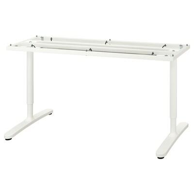 BEKANT Understel til bordplade, hvid, 160x80 cm