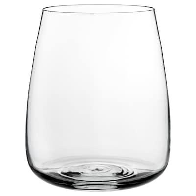 BERÄKNA Vase, klart glas, 18 cm