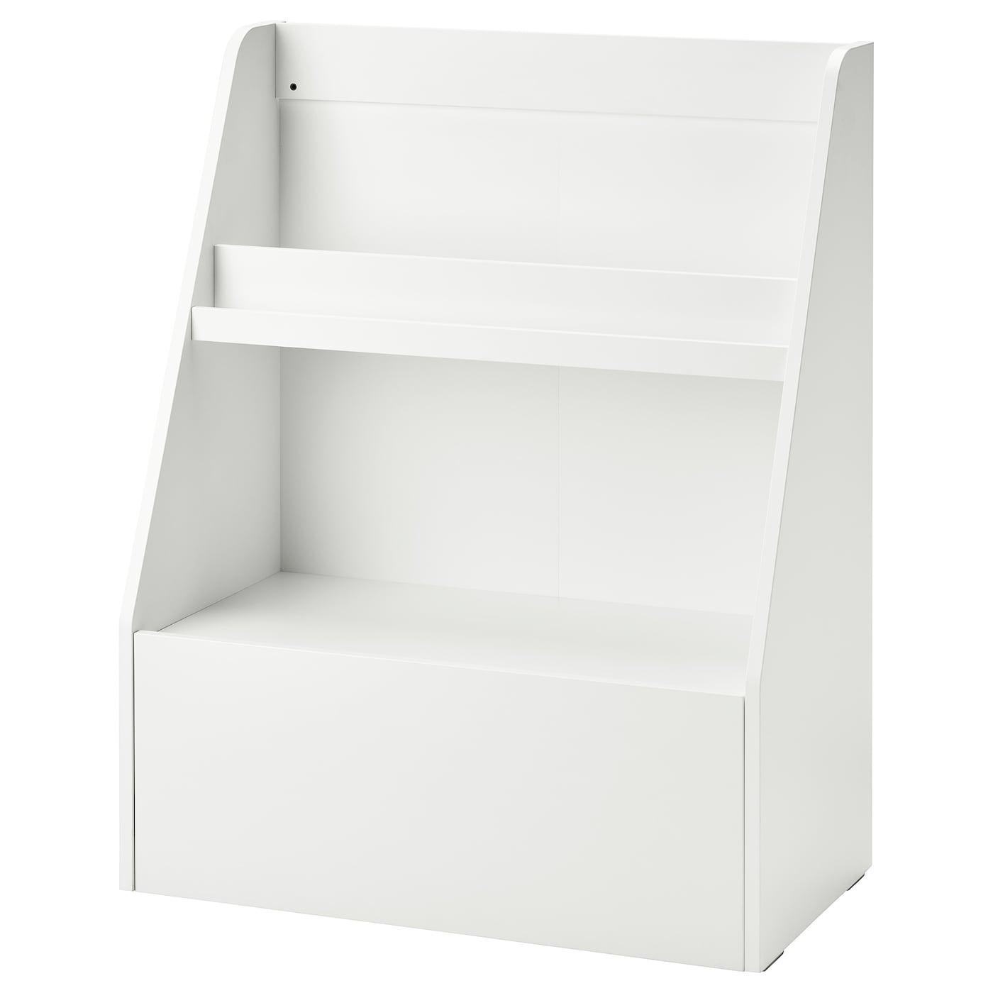Picture of: Bergig Bogholder Med Opbevaring Hvid Ikea