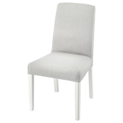 BERGMUND Stol, hvid/Orrsta lysegrå