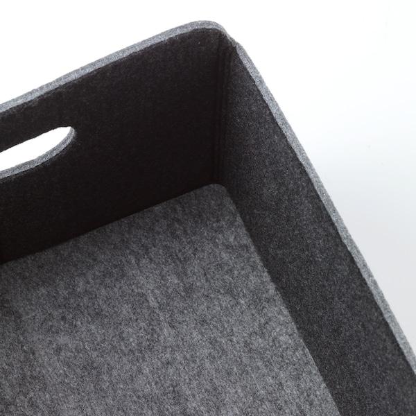 BESTÅ Kasse, grå, 25x31x15 cm