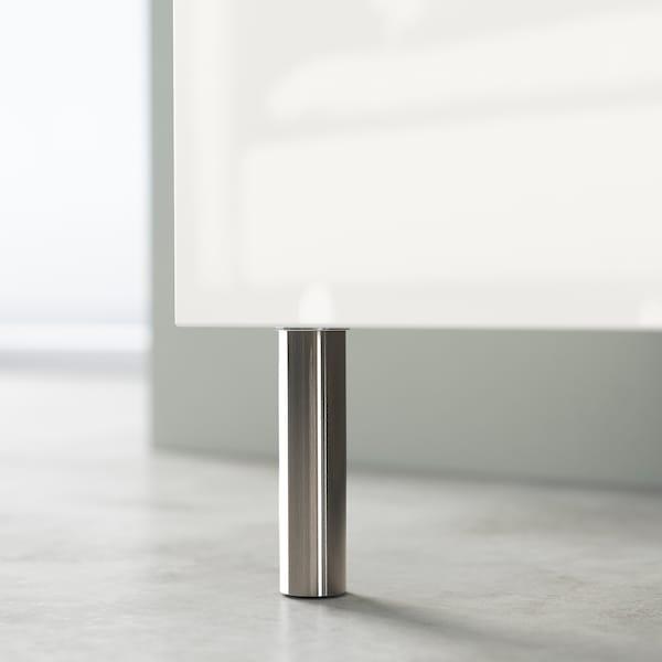 BESTÅ Opbevaring med låger, hvid Bergsviken/Ösarp/sort marmormønstret, 120x42x74 cm