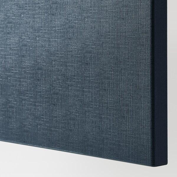 BESTÅ Opbevaring med låger, hvid/Notviken blå, 120x42x65 cm