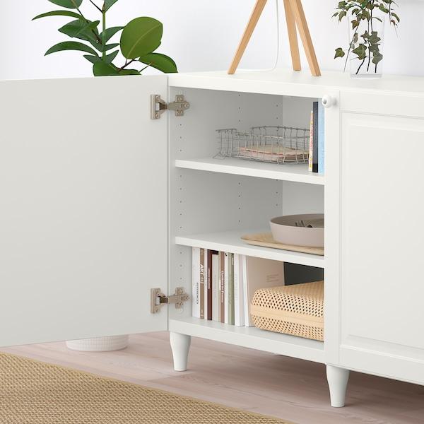 BESTÅ Opbevaring med låger, hvid/Smeviken/Kabbarp hvid, 180x42x74 cm