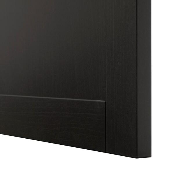 BESTÅ Opbevaring med låger, sortbrun/Hanviken sortbrun, 120x42x65 cm