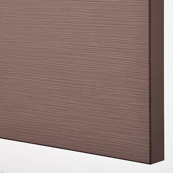 BESTÅ Opbevaring med låger, sortbrun/Hjortviken/Stubbarp brun, 180x42x74 cm