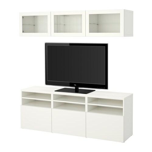 best tv m bel med vitrinel ger lappviken sindvik hvidt. Black Bedroom Furniture Sets. Home Design Ideas