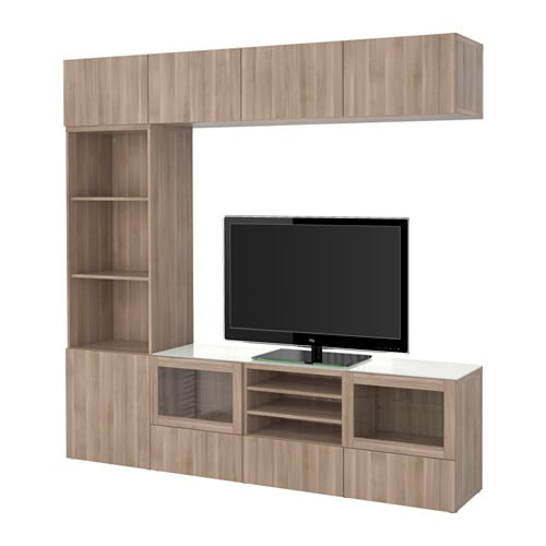 best tv m bel med vitrinel ger lappviken sindvik valn dm nst gr bejdse klart glas. Black Bedroom Furniture Sets. Home Design Ideas