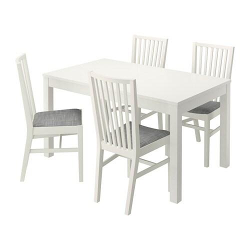 spisebord m stole træ ikea BJURSTA / NORRNÄS Bord og 4 stole   IKEA spisebord m stole træ ikea