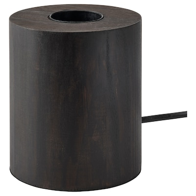 BLEKKLINT Bordlampe, mørkebrun træ, 11 cm