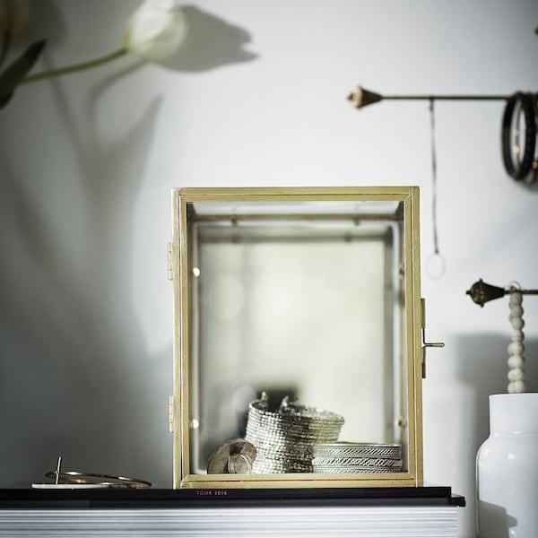 BOMARKEN Udstillingsboks, guldfarvet, 17x20x16 cm