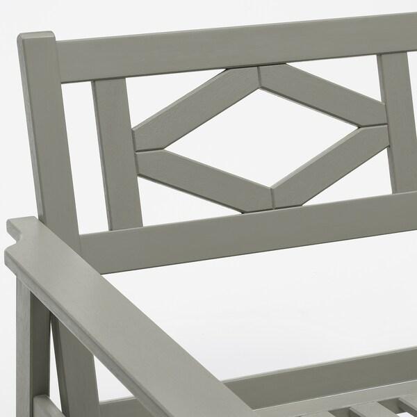 BONDHOLMEN Lænestol, ude, grå bejdse/Järpön/Duvholmen hvid