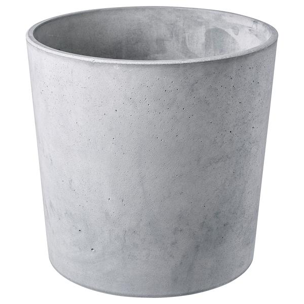 BOYSENBÄR Urtepotteskjuler, indendørs/udendørs lysegrå, 24 cm