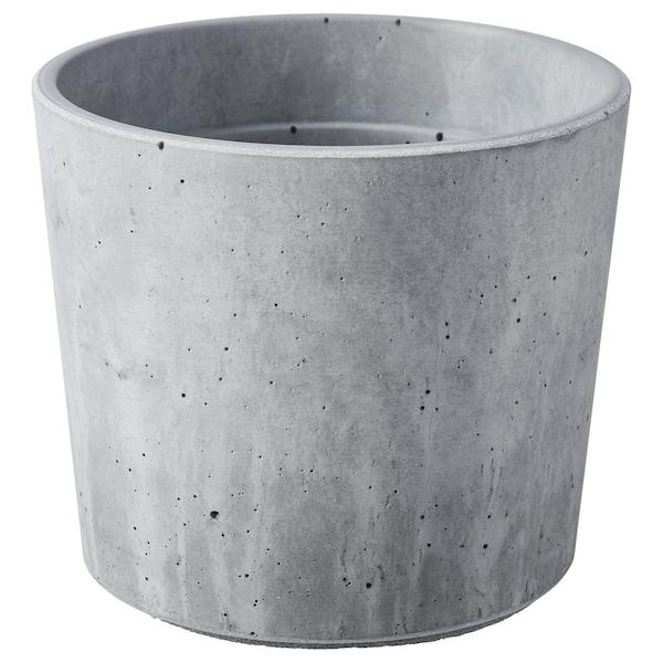 BOYSENBÄR Urtepotteskjuler, indendørs/udendørs lysegrå, 9 cm