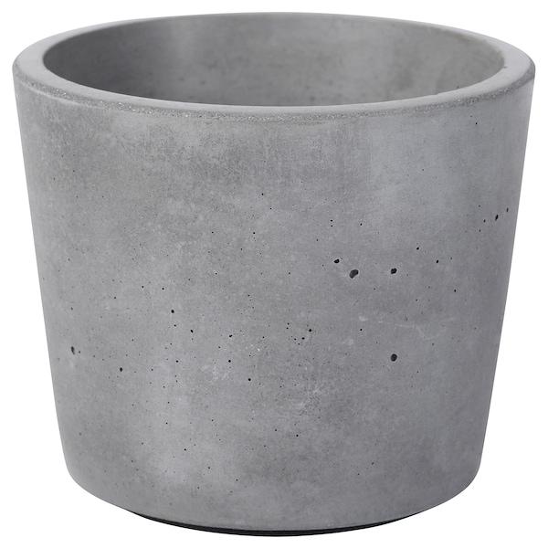 BOYSENBÄR Urtepotteskjuler, indendørs/udendørs lysegrå, 6 cm