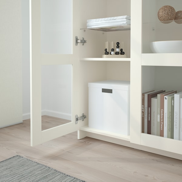 BRIMNES Vitrineskab, hvid, 80x190 cm