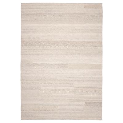 BRÖNDEN Tæppe, kort luv, håndlavet beige, 170x240 cm
