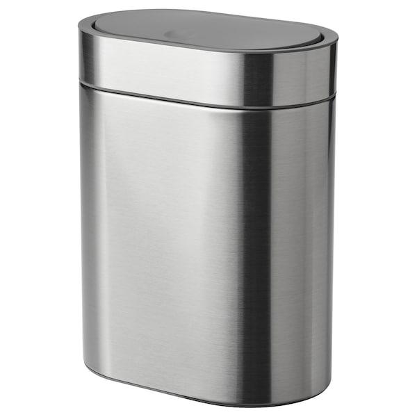BROGRUND Affaldsspand med tryklåg, rustfrit stål, 4 l