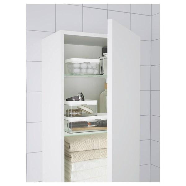 BROGRUND Boks, 3 stk., transparent grå/hvid