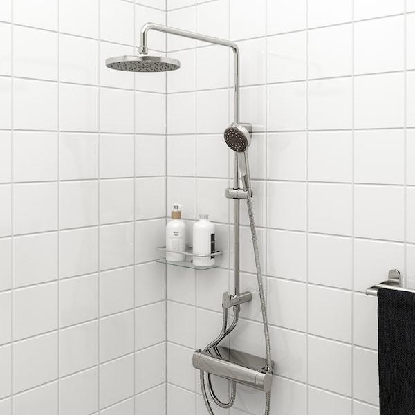 BROGRUND Hoved-/håndbrusersæt med omskifter, forkromet