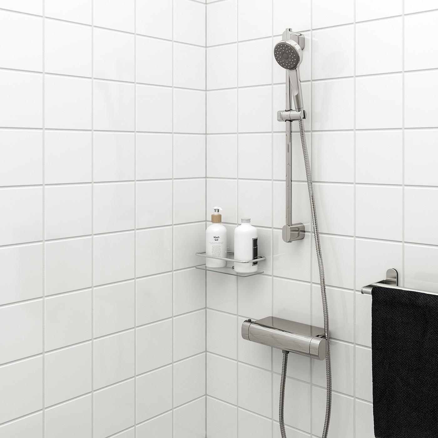 BROGRUND Stang med håndbrusersæt, forkromet