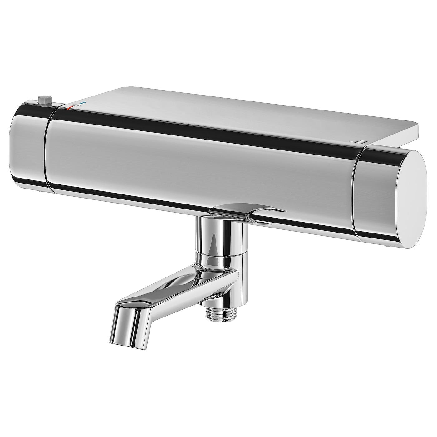 Picture of: Brogrund Termostatarmatur Til Bad Brusebad Forkromet 150 Mm Ikea