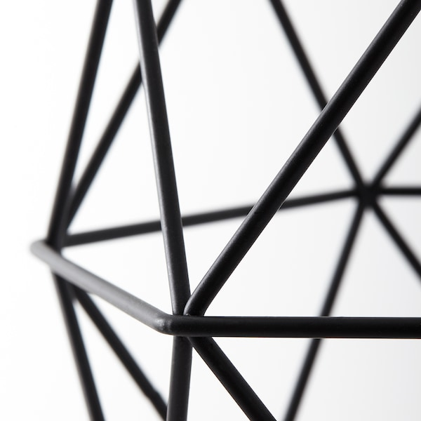 BRUNSTA Loftlampeskærm, sort, 20 cm
