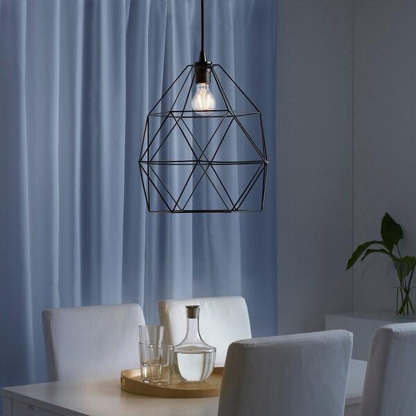 BRUNSTA Loftlampeskærm, sort, 30 cm