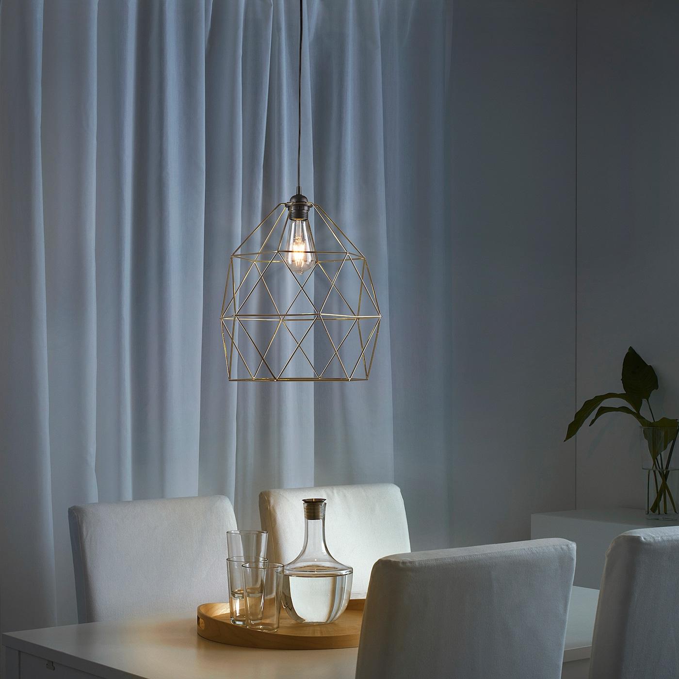 BRUNSTA Loftlampeskærm messingfarvet 30 cm