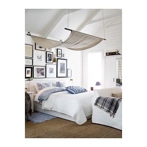 Brusali sengestel med 4 opbevaringsbokse   160x200 cm,   ikea