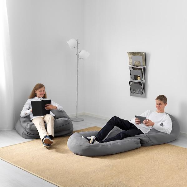 BUSSAN Sækkestol, inde/ude, grå