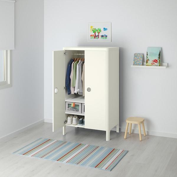 BUSUNGE Garderobeskab, hvid, 80x139 cm