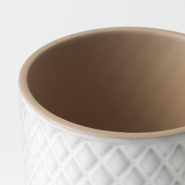 CHIAFRÖN Urtepotteskjuler, hvid, 9 cm