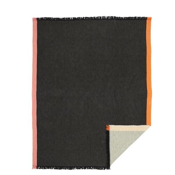 DEKORERA Plaid, antracit, 130x160 cm
