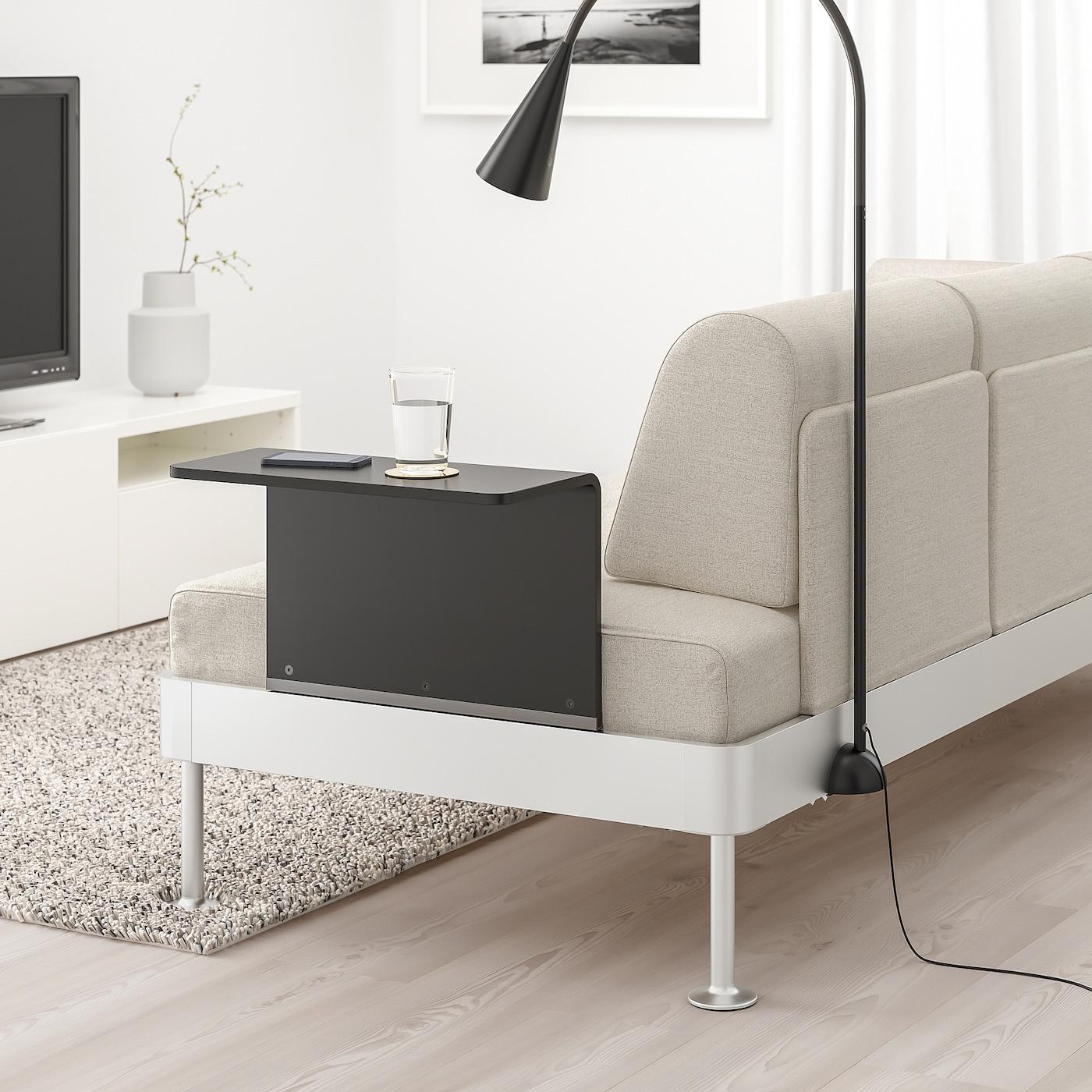 Picture of: Delaktig 3 Pers Sofa Med Sofabord Og Lampe Gunnared Beige Ikea