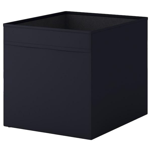 DRÖNA Kasse, sort, 33x38x33 cm