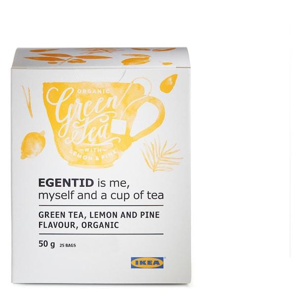 EGENTID Grøn te, citron/fyrretræ/UTZ certificeret/økologisk, 50 g