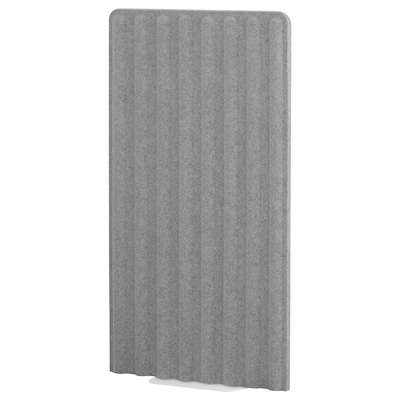 EILIF Skærm, fritstående, grå/hvid, 80x150 cm